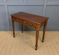Victorian Mahogany 2 Drawer Side Table (7 of 12)