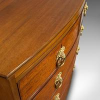 Antique Bow Front Chest of Drawers, English, Mahogany, Tallboy, Victorian, 1870 (10 of 12)