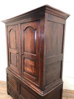 Large Antique 18th Century Welsh Oak Press Cupboard (M-808) (11 of 18)