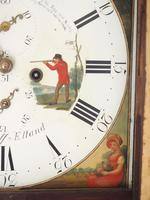 Fine English Longcase Clock Radcliff Elland 8-day Grandfather Clock with Moon Roller Dial (17 of 27)