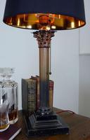 Good Large Vintage Corinthian Column Table Lamp c1930 (10 of 12)
