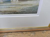 Watercolour evening by the river Denham Listed artist Alan Whitehead (10 of 10)