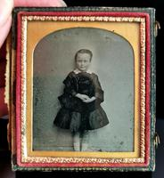 Victorian Cased Ambrotype Photograph, Boy in a Dress (6 of 7)