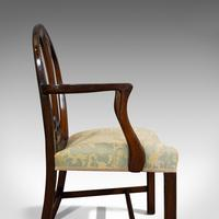 Pair of Antique Hepplewhite Revival Carvers, Mahogany, Armchair, Victorian (8 of 12)