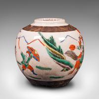 Small Antique Flower Vase, Japanese, Ceramic, Posy Urn, Edo Period c.1850 (4 of 12)
