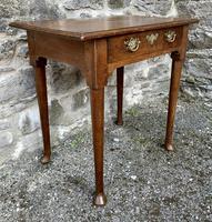 18th Century Georgian Oak Pad Foot Side Table (9 of 15)
