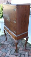 1940's Mahogany Drinks Cabinet on Cab Legs - Well Fitted Interior (5 of 5)