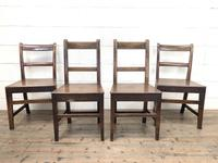 Four 19th Century Oak Back Bar Chairs (2 of 10)