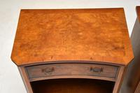 Pair of Georgian Style Burr Walnut Bedside Cabinets c.1930 (8 of 11)