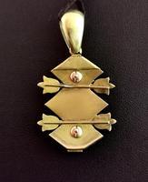 Victorian Blue Enamel & Split Pearl Pendant, 9ct Gold (9 of 12)