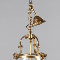 Large French Brass Hanging Lantern (3 of 4)