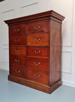 Large Antique Bank of Mahogany Drawers c.1880 (4 of 8)