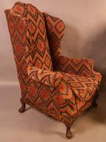 Very Good Pair of Wing Armchairs in the style of George II (12 of 15)