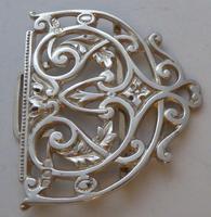 Rare Victorian 1900 Hallmarked Solid Silver Nurses Belt Buckle Elkington & Co (6 of 7)