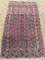 Antique Tekke Turkoman Carpet Rare Shade (4 of 4)
