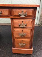 Antique Walnut Pedestal Writing Desk (pri) (6 of 10)