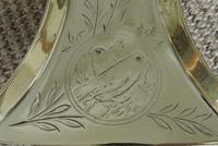 Set of Aesthetic Movement Brass Fire Irons Poker Tongs Shovel c.1880 (10 of 10)