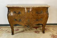French Chest of Drawers Bombe Commode with Marble Top (4 of 12)