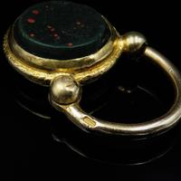 Antique Bloodstone Agate Yellow Gold Cased Padlock (4 of 4)