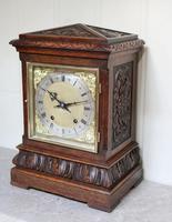 Solid Carved Oak Bracket Clock (2 of 11)