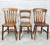 Antique Harlequin Set of 6 Kitchen Chairs (6 of 6)