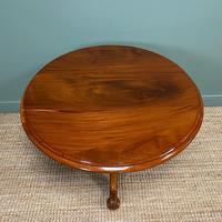 Spectacular Mahogany Small Victorian Circular Antique Dining Table (6 of 8)