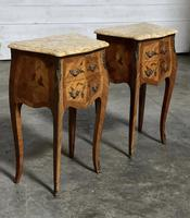 Quality Pair of French Marquetry Bedside Drawers (6 of 22)