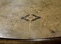 Oval Inlaid Walnut Loo Table on Quadruple Base (6 of 8)