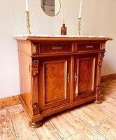 Antique Sideboard / Burr Walnut Sideboard / Walnut Cupboard (9 of 10)