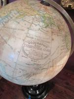 "Antique 8"" Paper Mache Terrestrial Globe (8 of 8)"