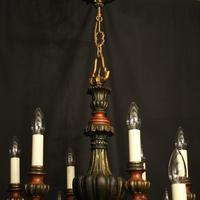 Florentine 12 Light Polychrome & Toleware Chandelier (6 of 10)