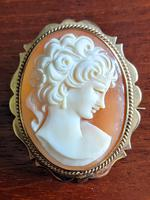 Cameo Brooch in 9ct Gold Frame