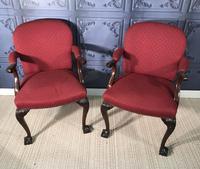 Pair of Mahogany Desk Chairs c.1920 (2 of 15)