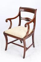 Pair of Regency Mahogany Open Armchairs / Carvers (2 of 13)