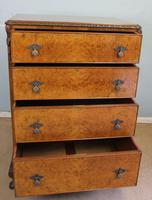 Quality Burr Walnut Chest of Drawers (7 of 7)