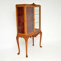 Queen Anne Style Burr Walnut Display Cabinet c.1930 (4 of 11)