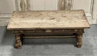 Rustic French Bleached Oak Coffee Table with 2 Drawers (14 of 19)