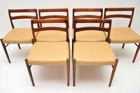 Set of 6 Danish Rosewood & Leather Dining Chairs by Soren Willasden (10 of 12)