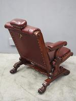 William IV Mahogany and Burgundy Leather Armchair (7 of 12)