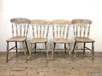 Set of Four Antique Kitchen Chairs (2 of 11)