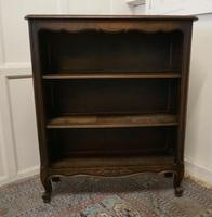 French Oak Open Bookcase