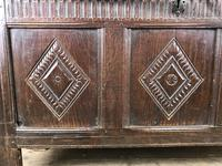 Antique 18th Century Oak Coffer With Carved Front (4 of 16)
