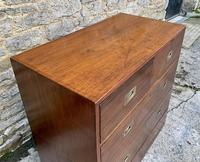 Antique Military Campaign Teak Chest of Drawers (16 of 21)