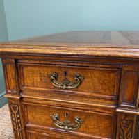 Stunning Victorian Maple & Co Antique Oak Pedestal Desk (6 of 9)