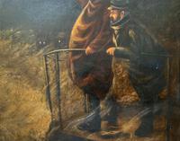 Newlyn School? Fab 19th Century Fishermen in Rough Seas Oil Portrait Painting (8 of 16)