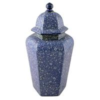 Pair of Chinese Style Vases & Lids (2 of 8)