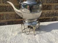 Edwardian Silver Plated Spirit Kettle (2 of 4)