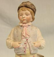 Antique Bisque Figurine of Young Boy (5 of 12)