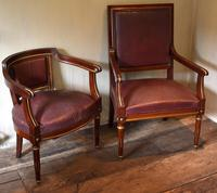 Pair of French Directoire Leather Armchairs (14 of 16)