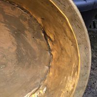 18th Century Brass Cream Pan - Log Bin (4 of 7)